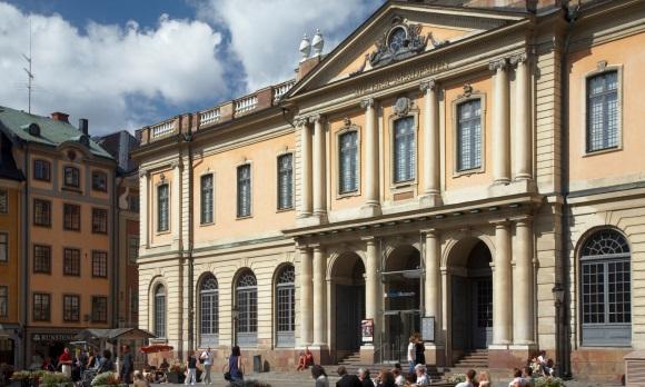 Das Nobelmuseum in der Altstadt von Stockholm